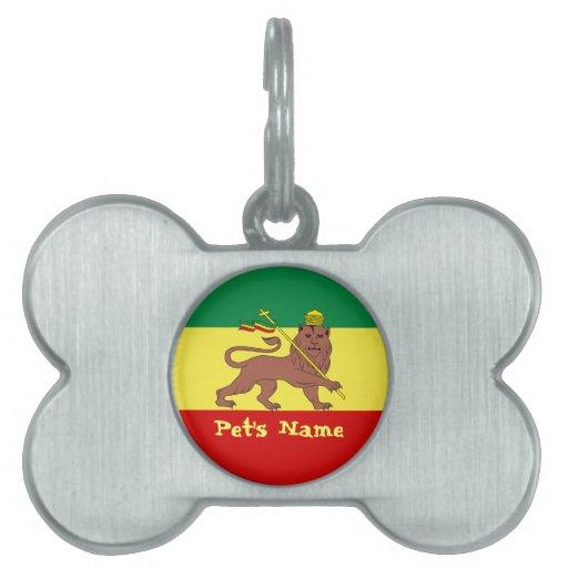 León del reggae de Rasta de Judah Placa Mascota