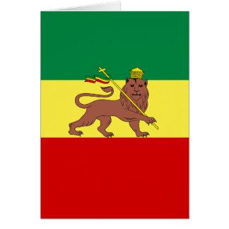 León del reggae de Rasta de Judah Tarjeta Pequeña