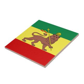 León del reggae de Rasta de la teja de Judah
