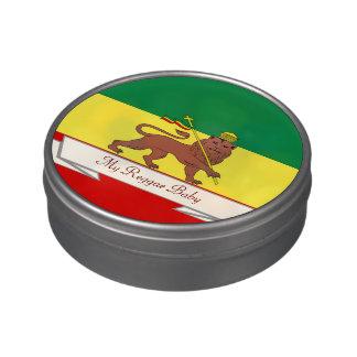 León del reggae de Rasta del bebé del reggae de Latas De Caramelos