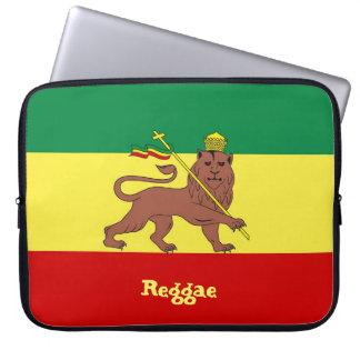 """León del reggae de Rasta del neopreno 15"""" de Judah Mangas Portátiles"""