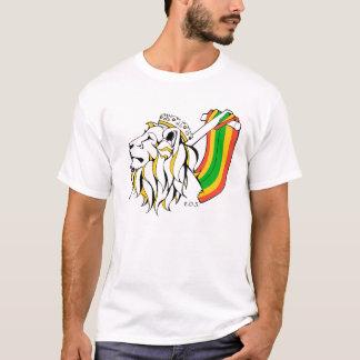León del reggae de Rasta que asciende Playera