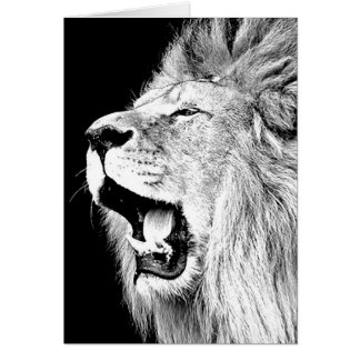 León del rugido tarjetas