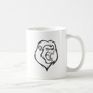 León del rugido taza
