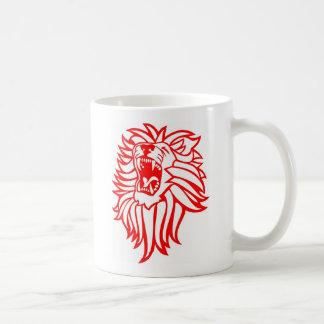 León del rugido taza de café
