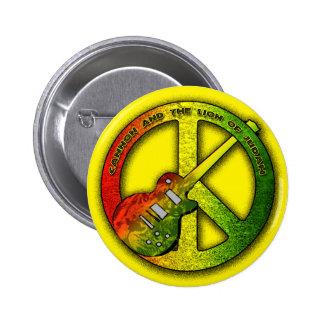 León del signo de la paz de Judah Pin Redondo De 2 Pulgadas