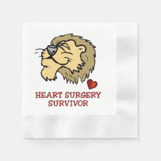 León del superviviente de la cirugía de corazón servilleta desechable