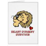 León del superviviente de la cirugía de corazón tarjetas