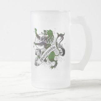 León del tartán de Abercrombie Taza De Cristal