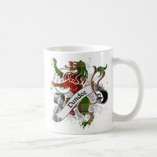 León del tartán de Dundee Taza De Café