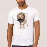 León del varón del bigote camisetas