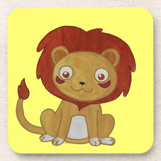 León del Watercolour Posavasos De Bebidas
