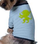 León desenfrenado camisetas mascota