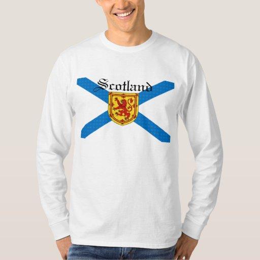 León desenfrenado de Escocia de la bandera Poleras