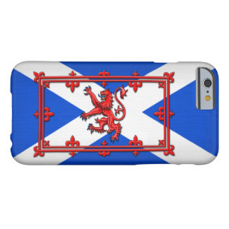 León desenfrenado en bandera escocesa funda de iPhone 6 barely there