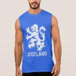 León desenfrenado escocés apenado de la mirada camisetas sin mangas
