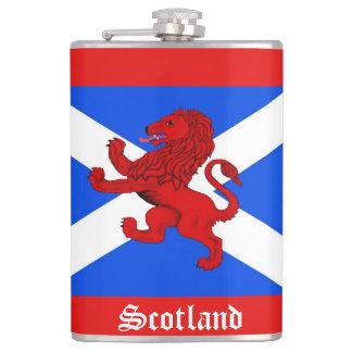 León desenfrenado escocés de Escocia, bandera del Petaca