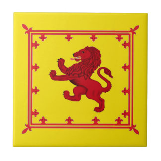 León desenfrenado, la bandera antigua de Escocia Azulejos Ceramicos