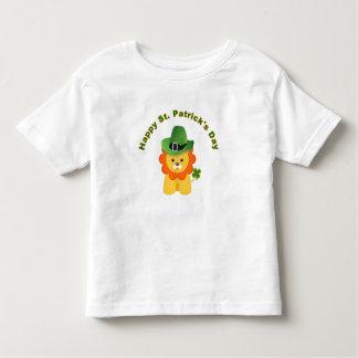 León divertido de la camisa del niño de la