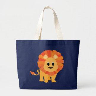 León dulce bolsa de tela grande