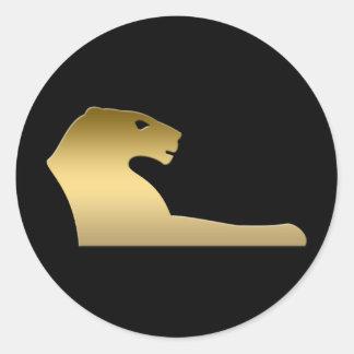 León egipcio antiguo - diosa Sekhmet Pegatina Redonda