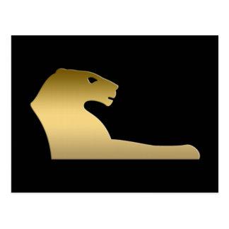 León egipcio antiguo - diosa Sekhmet Tarjeta Postal