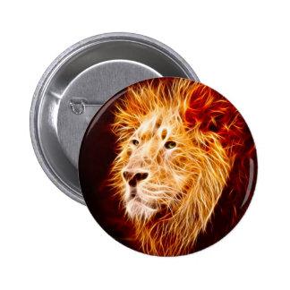 León elemental pin redondo de 2 pulgadas