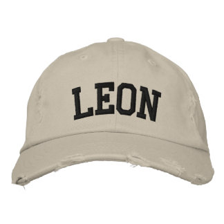 Leon Embroidered Hat Embroidered Baseball Cap