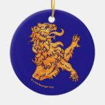León en azul ornamente de reyes