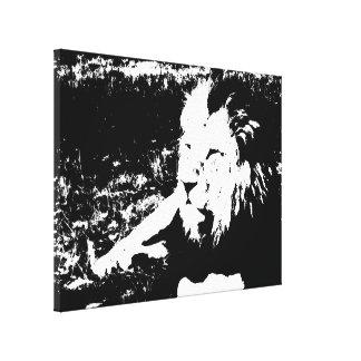 León en blanco y negro impresiones de lienzo