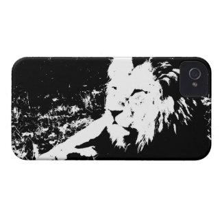 León en blanco y negro iPhone 4 Case-Mate protector