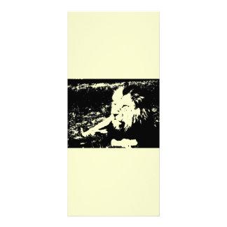 León en blanco y negro lona publicitaria