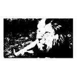 León en blanco y negro plantilla de tarjeta de negocio