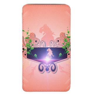 León en color rosado suave en un escudo funda para galaxy s5