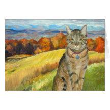 León en el Catskills - engrase en Canvas_ 18 x 24_ Tarjeton