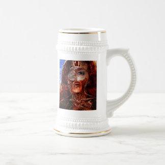 león en el fuego tazas de café