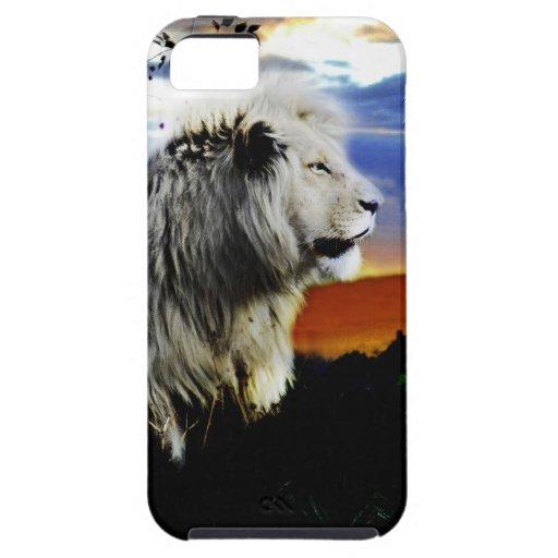 León en la selva iPhone 5 Case-Mate cárcasas
