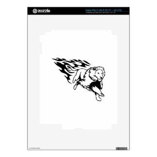León en llamas pegatina skin para iPad 3