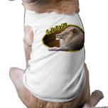 León en óvalo camiseta de perro