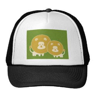 León en verde llano gorras de camionero