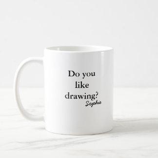 ¿león enojado, hacen usted tienen gusto de dibujar tazas