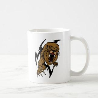 León enojado taza