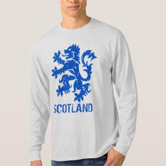 León escocés del estilo del vintage desenfrenado remera