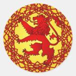 León escocés etiqueta