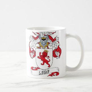 Leon Family Crest Classic White Coffee Mug