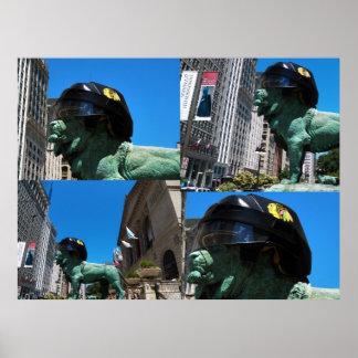 León famoso del instituto del arte de Chicago Póster