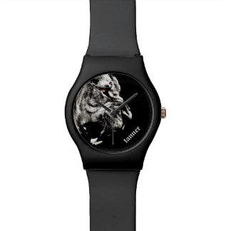 León feroz personalizado relojes de mano