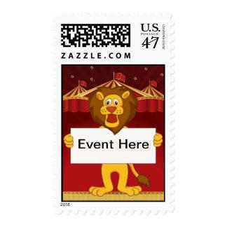 León, franqueo del circo sellos postales