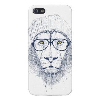 León fresco (blanco) iPhone 5 fundas