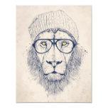 León fresco invitación 10,8 x 13,9 cm